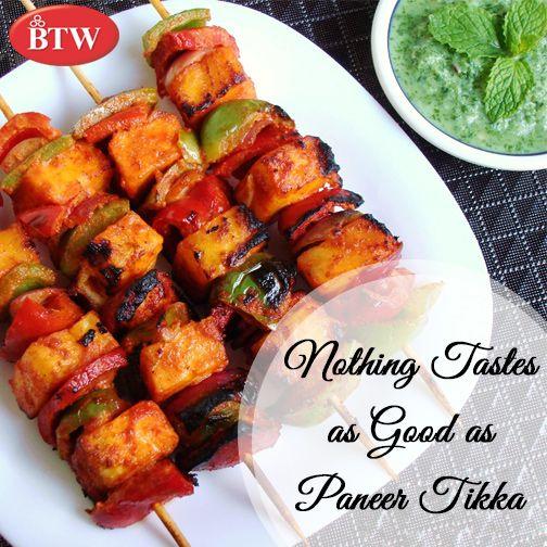 Cooked To Greatness!! Enjoy Paneer Tikka at BTW Outlets. #BTW  #paneertikka #starter #foodexperiment #yummy  #Cheese #FoodieLife #FoodForLife #LoveForFood #Yummyyum #FoodTruck #AmazingFood #TheFoodloveStory #EatSleepDrinkRepeat #vegeterianwednesday #indianfood #crazyhashtagfoodies #eeeeeats  #loveforfood #indiansnacks #delhilife #delhiwale #saadidilli
