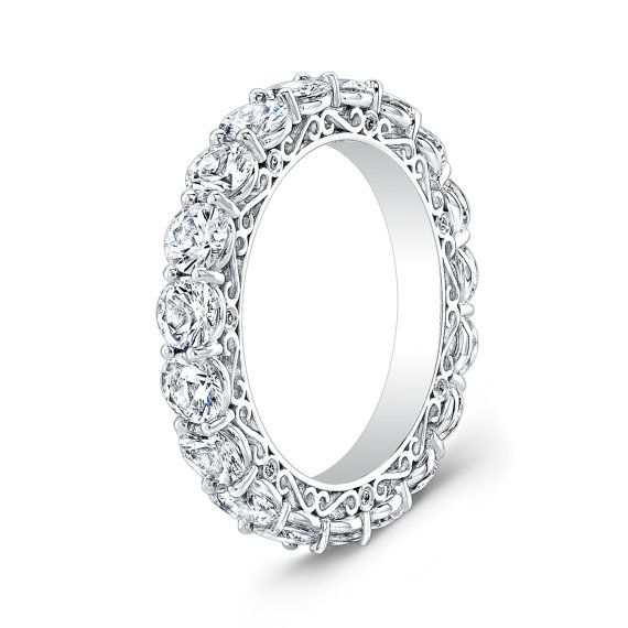 Mesdames platine diamant éternité millésimés antique demi-jonc 2,00 ctw G-VS2 diamant qualité