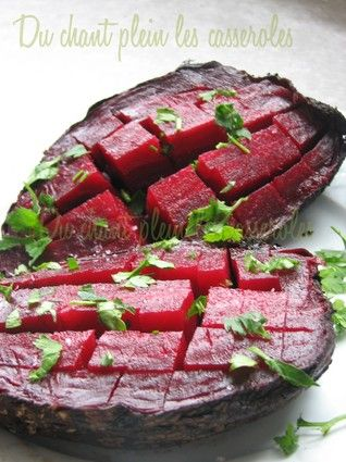 Betteraves cuites au four - 180°C, 1h-1h30