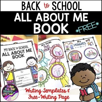 This is a perfect back to school activity to get to know your new students! Students will love having the options to free write about themselves or fill in provided templates in their Back to School All About Me Book! What's included in this freebie: • All About Me Title Page (2 options, with or