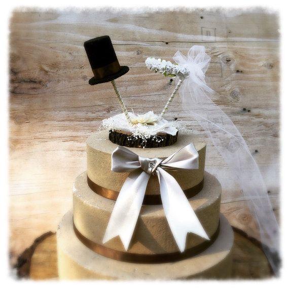 Wedding Cake Topper Unique Wedding Cake Topper by MomoRadRose