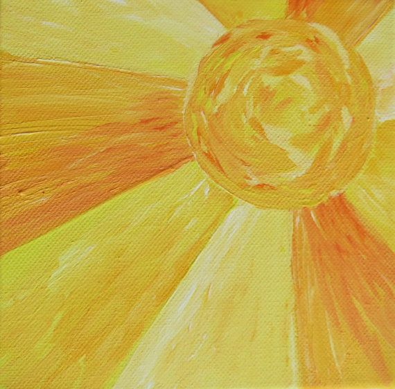 This sunshine painting was inspired by the song and is a great smaill picture to brighten any space and make a loved one feel loved! READY TO
