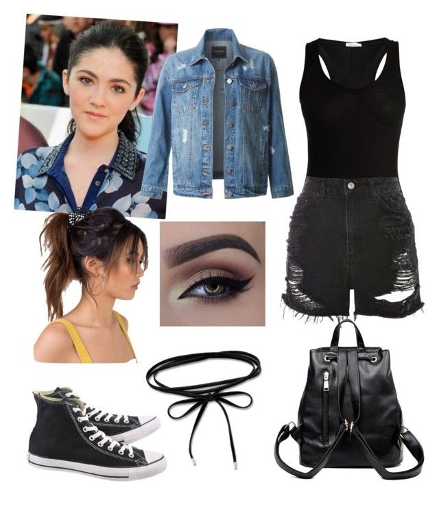 """Untitled #373"" by queen-olmos on Polyvore featuring Skin, Topshop, Converse and LE3NO"