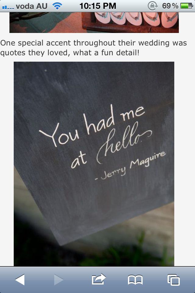Spreading movie quotes throughout the reception party is a subtle way of accenting the theme.