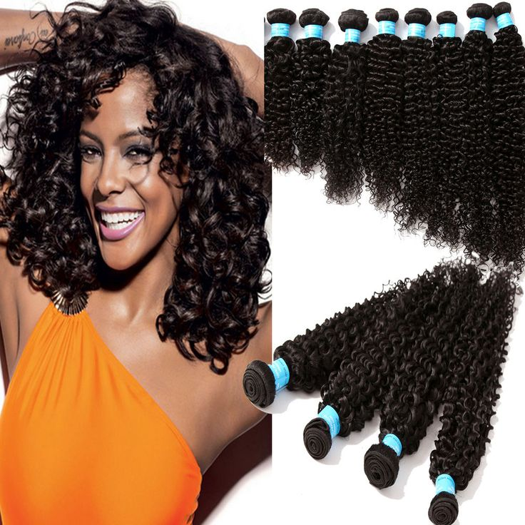 """US Local Ship! 3PCS/300g 16""""-20"""" 6A Grade PERUVIAN Curly Human Hair Extensions  #WIGISS #HairExtension"""