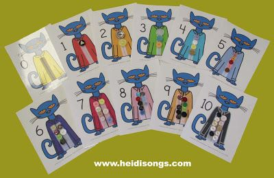 Pete the cat numbers with manipulatives