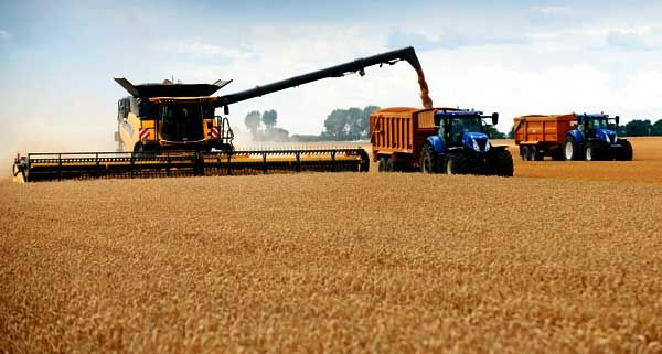 New Holland Combine Harvest Record