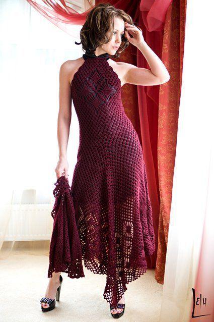 Fishnet Dress and Cape