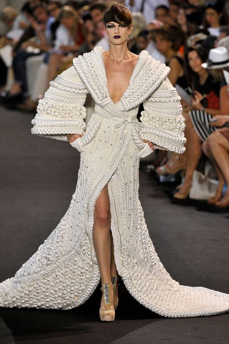 knit couture. Stephane Rolland Fall 2011 Haute Couture Collection.