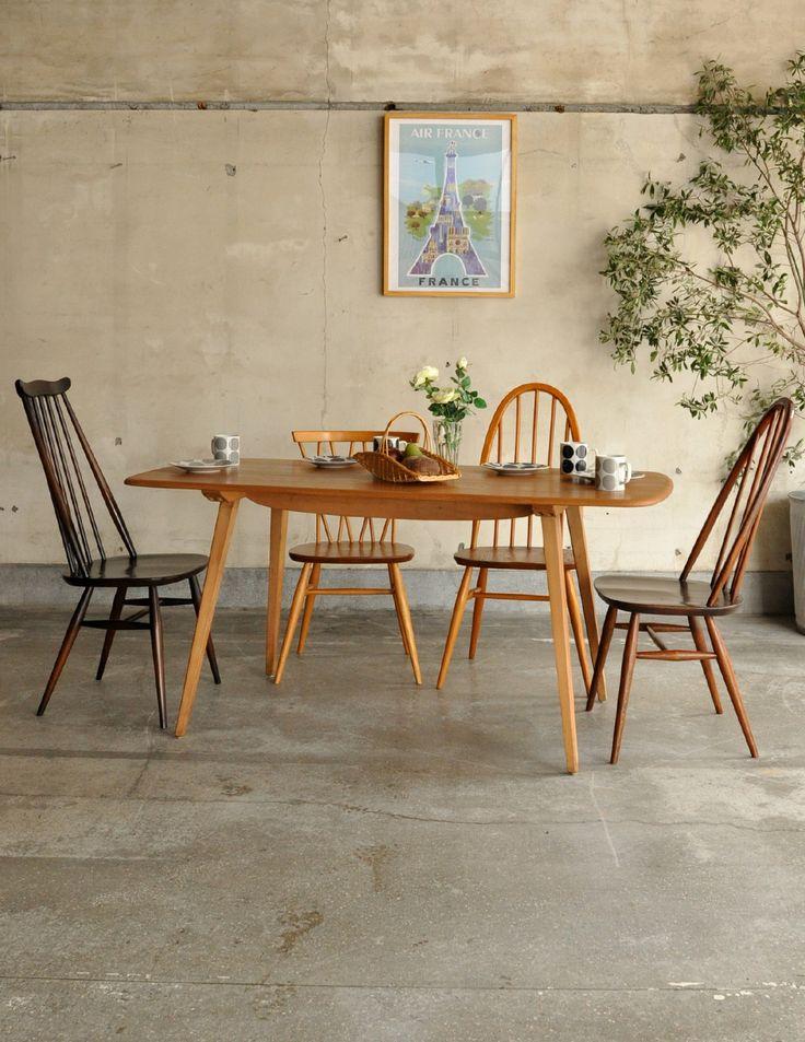 イギリスのヴィンテージ家具、有名なアーコール社のダイニングテーブル (x-558-f)