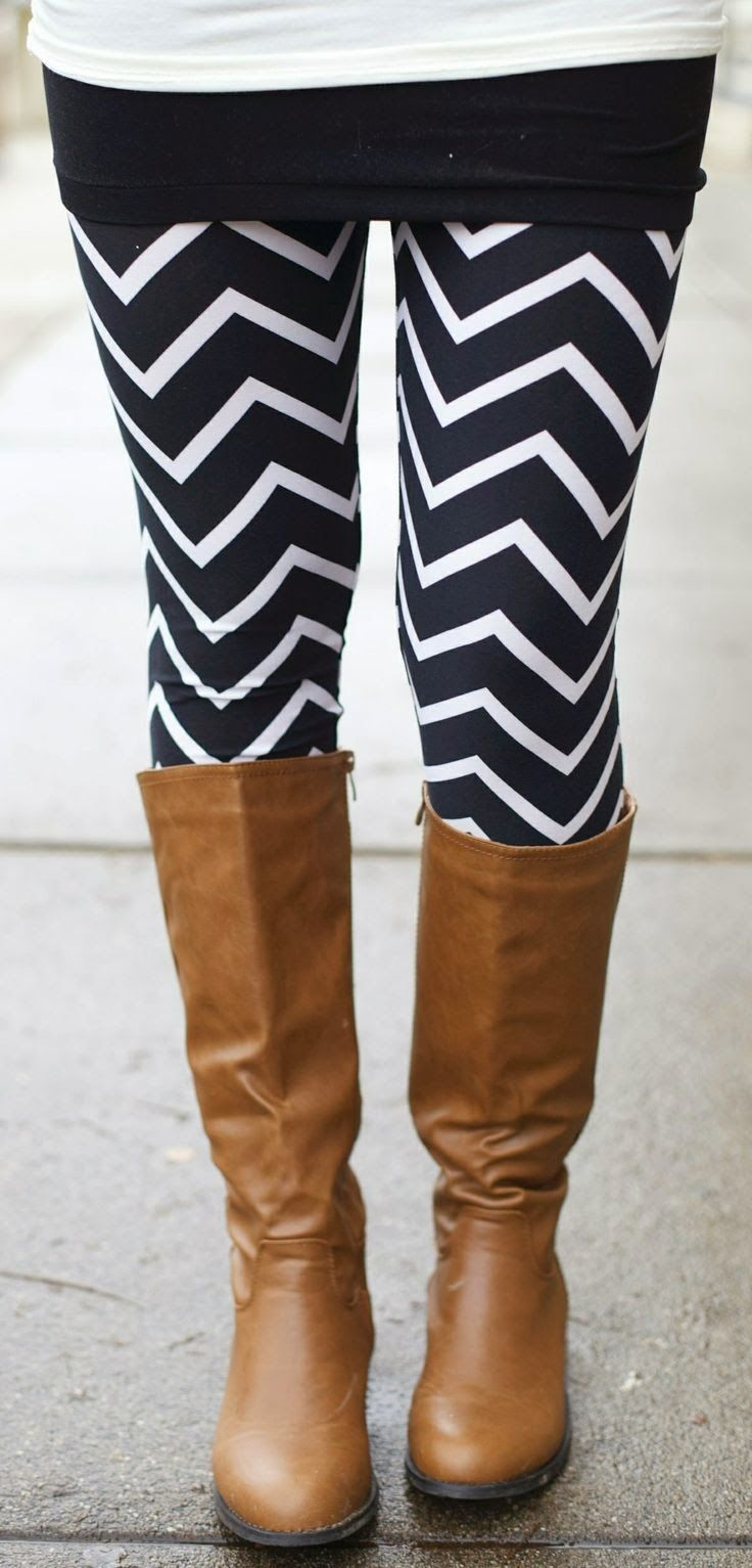 White-Black with Long Leather #Boots