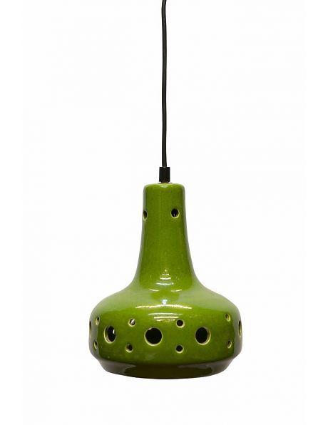 Hanglamp groen, vintage hanglamp van keramiek, ca. 1960 - Lamplord