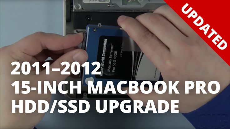 How to Install a SSD or HDD in a 15-inch MacBook Pro (2011-2012) UPDATED