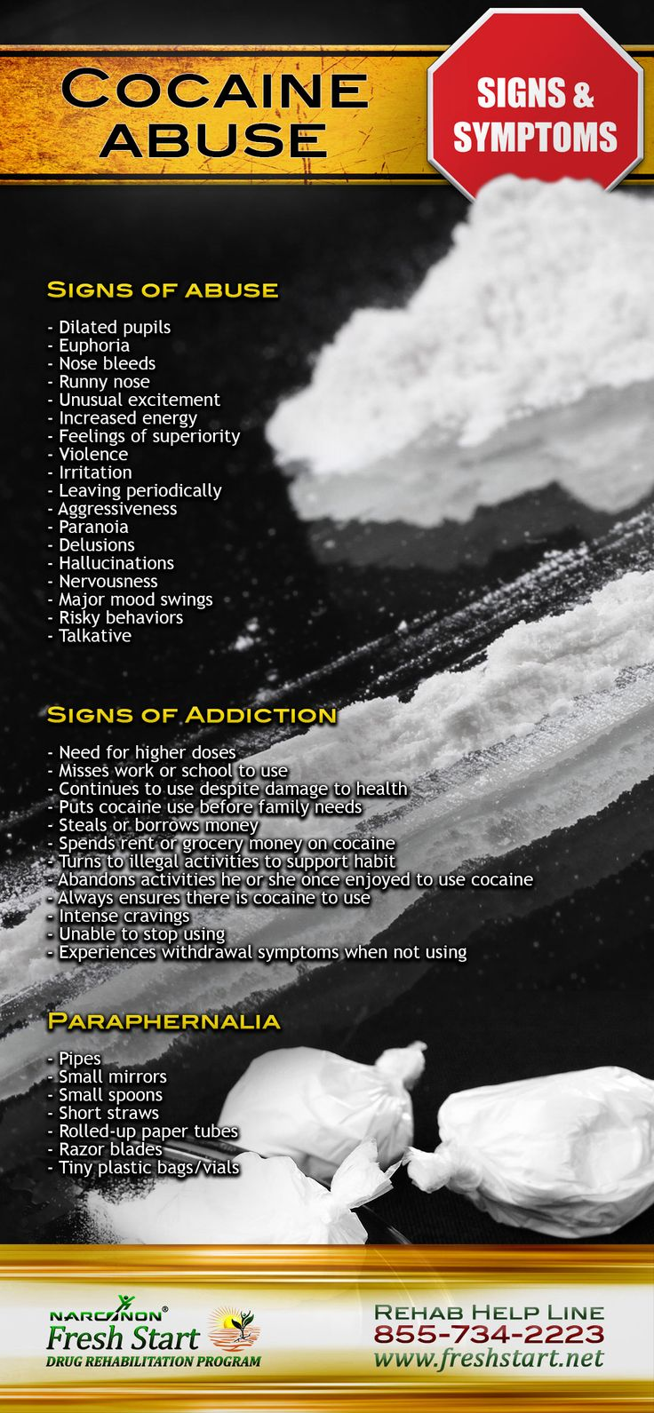 Pin by Narconon Fresh Start on Cocaine | Signs of cocaine ...