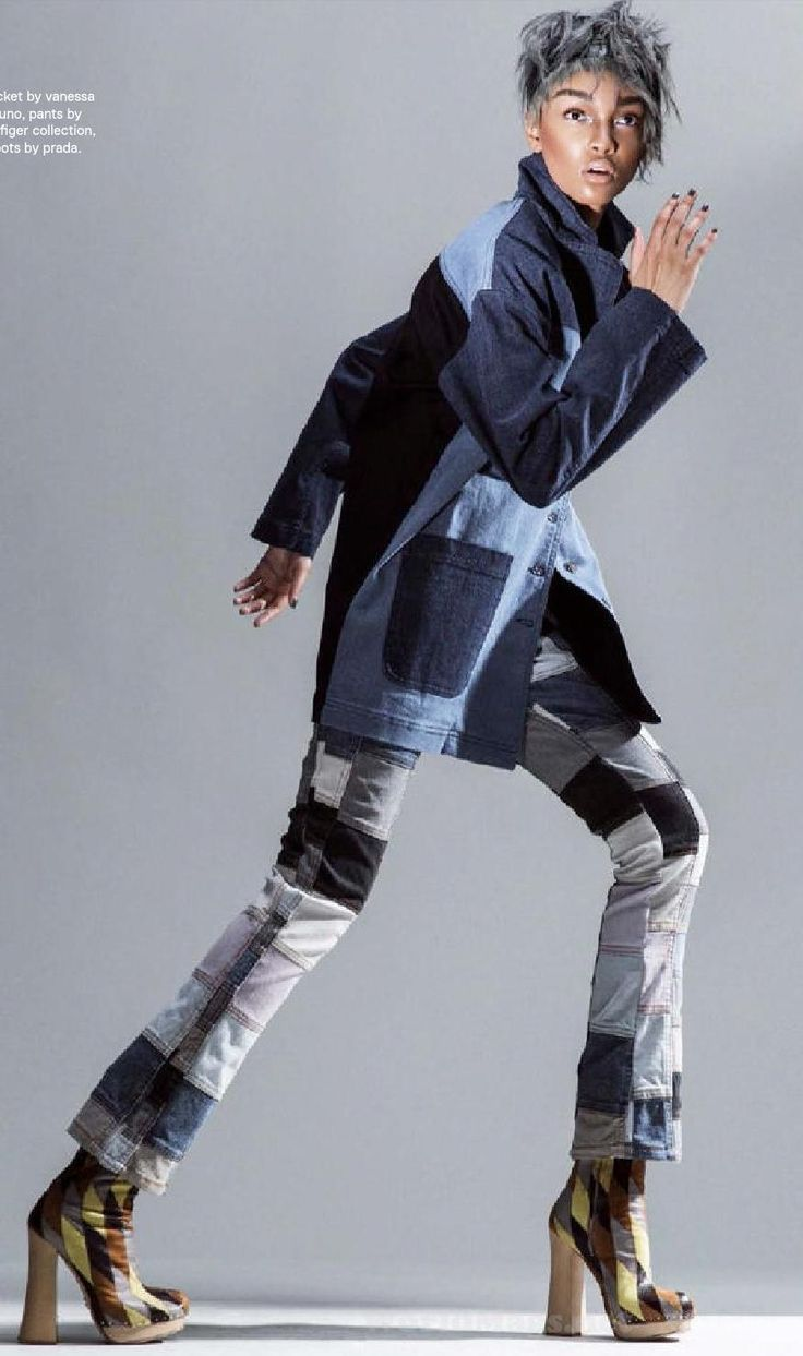 Patchwork denim jacket and pants. up cycled and repurposed ideas.