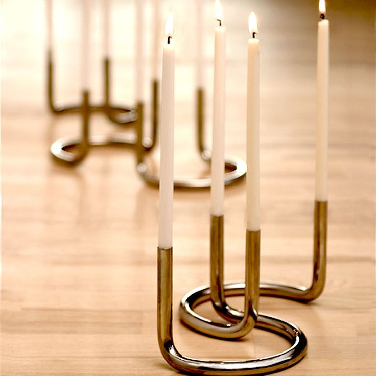 architectmade - gemini candle holder stainless steel