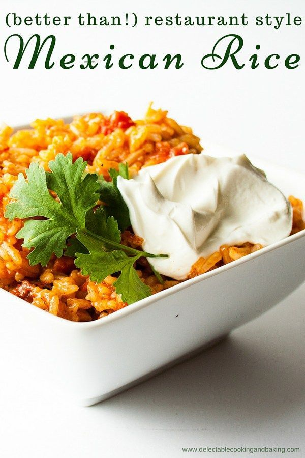 A really good restaurant style Mexican rice recipe that delivers that true…