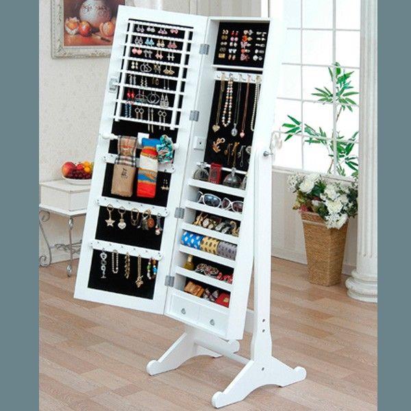Organizador de Joyería y accesorios - Espejo de cuerpo completo (diy muebles espejo)