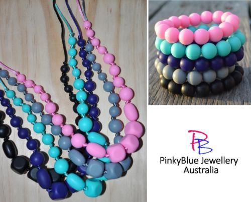 Price: $16.00 http://www.ebay.com.au/itm/Silicone-Necklace-Bangle-Set-Funky-Fashion-Jewellery-Delicate-Knotted-Mix-/262232196163?ssPageName=STRK:MESE:IT