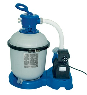The Sand Filter Pump with GFCI from Intex is perfect for above ground pools, including soft sided pools.