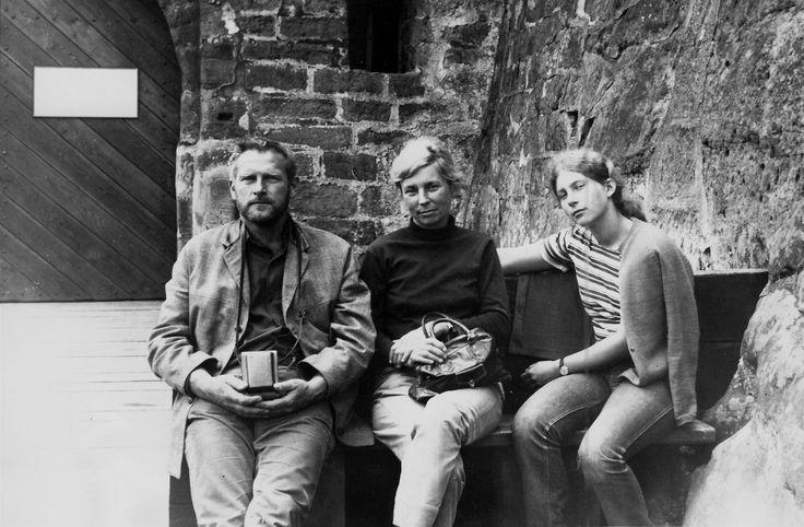 Olbram Zoubek s manželkou Evou Kmentovou a dcerou Polanou