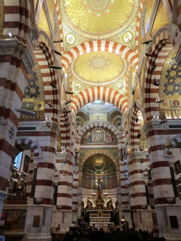 Cathedral of Notre-Dame in #Marseille, #France. For more information, click on the pin.