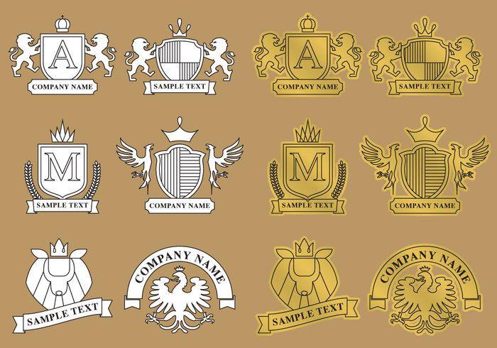 Free vector Modern Heraldic Logos #22472