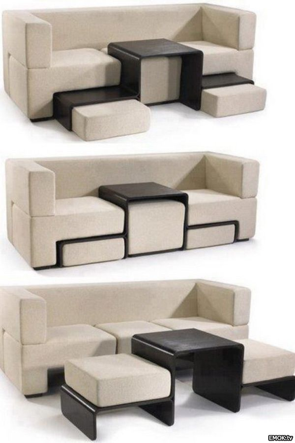 I love ingenuity and efficiency - Convertible Couch and Tables
