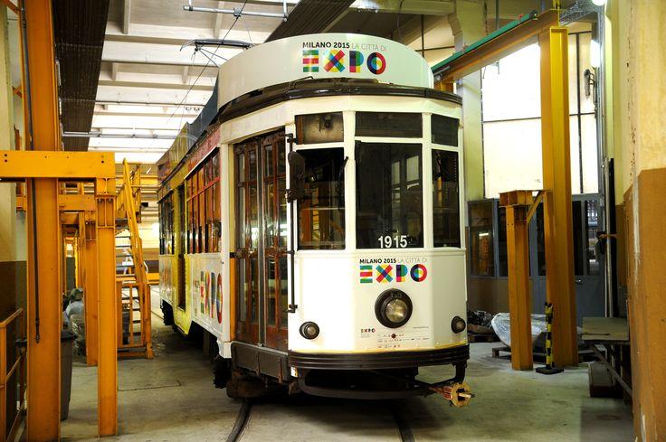 I #Tram di #Milano vestiti #Expo2015  - The #Trams in #Milan dress up for Expo 2015 - #FocusOnExpo #ATM
