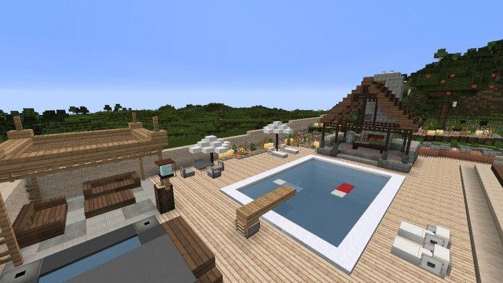 Large Suburban House minecraft building amazing idea download 4