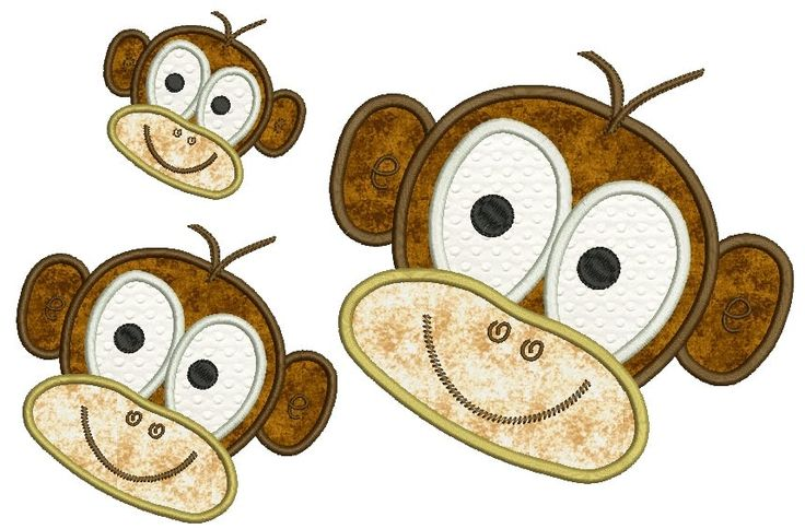 Applique Patterns | Monkey Applique Patterns | Applique Tutorial | Sewing | Pinterest | Design ...
