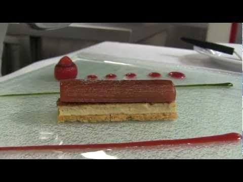 3 Michelin Gilles Goujon prepares a dish with foie gras