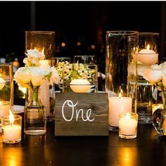 Lovely and inexpensive centerpieces                                                                                                                                                                                 More