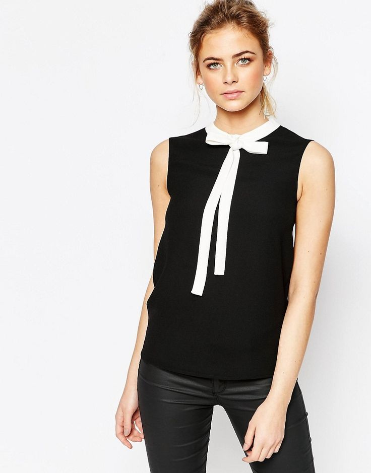 Ted+Baker+Bow+Tie+Crepe+Top