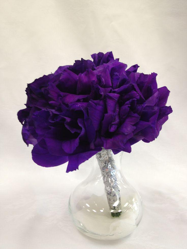 Dark Purple Lisianthus bridesmaid bouquet