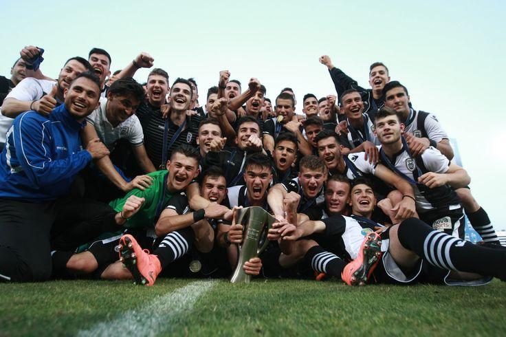 Μετά από μία μεγάλη και δύσκολη σεζόν η #PAOKu17 κατέκτησε το πρωτάθλημα της #SuperLeague 2015-16 #PAOKAcademy #PAOKNextGen