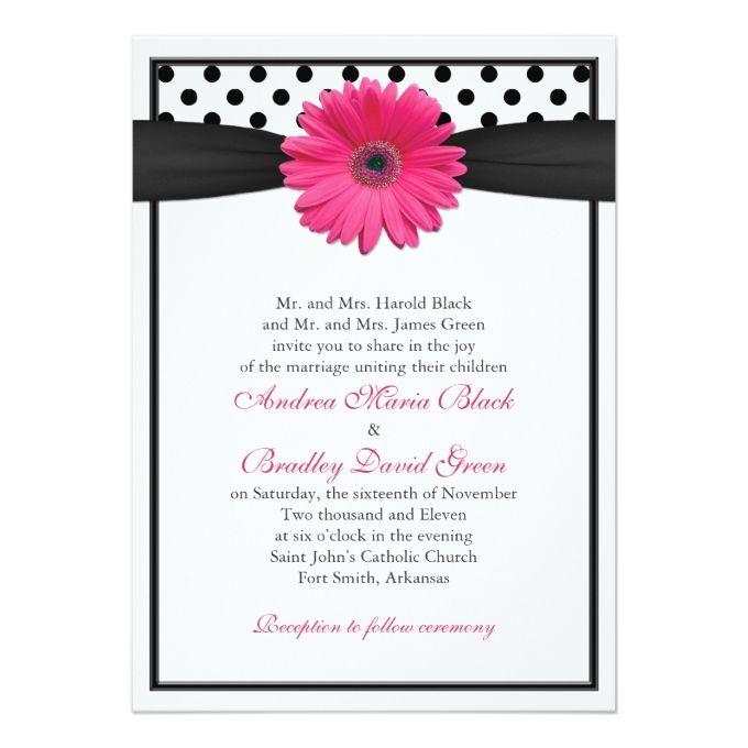 Hot Pink Gerbera Daisy White Wedding Invitation 5 X 7: 1809 Best Daisy Floral Wedding Invitations Images On