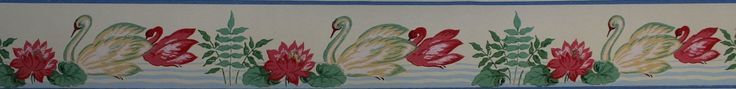 Rosie's Vintage Wallpaper - Eagle Vintage Wallpaper Border Swans, $15.00 (http://www.rosiesvintagewallpaper.com/eagle-vintage-wallpaper-border-swans/)