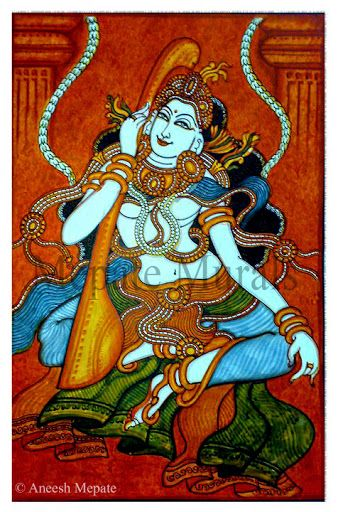 148 best images about indian art kerala mural paintings for Asha mural painting guruvayur
