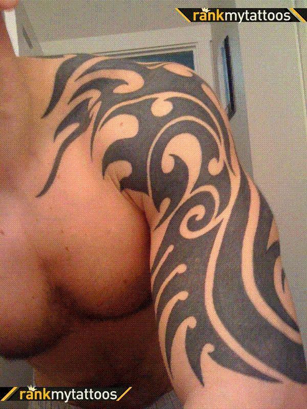 Tribe 2 Tribal Half Sleeve Tattoo