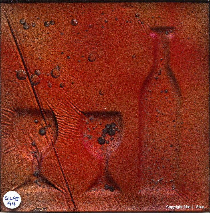 "Red Red Wine - Painting or Tile 6"" x 6"""