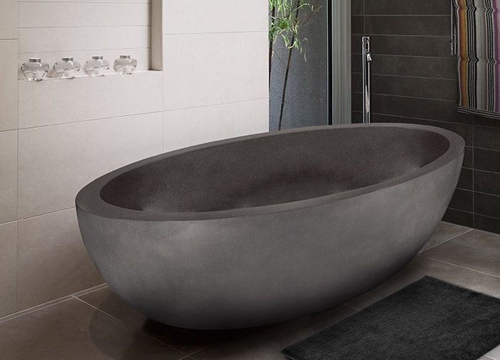 Sentosa Stone Bathtub | Modern bath tub inspiration by COCOON | check out our freestanding bath tubs | sturdy stainless steel bathroom taps | bathroom design | renovations | interior design | villa design | hotel design | Dutch Designer Brand COCOON