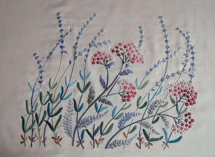 Вышивка травяных дизайнов по книгам Sadako Totsuka
