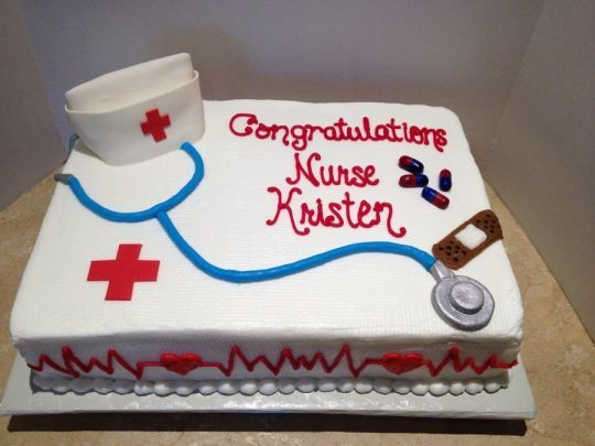 Nursing graduation cake - CakesDecor
