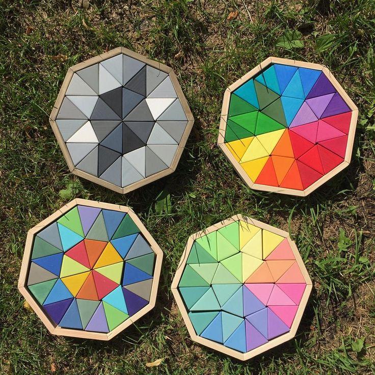 А какой из вариантов наших мозаик нравится вас больше? - ахроматическая, яркая или пастельная темная и пастельная светлая (под кодовым названием единорог 😄🦄) Все мозаики по 1300 рублей, в наличии ахроматическая и пастельная темная #verywood_verygood