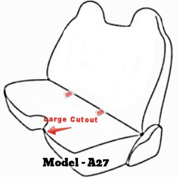 A27 Toyota Pickup Regular Xcab Molded Headrest Large 5-7 inch Shifter Cutout Front Bench Seat Cover