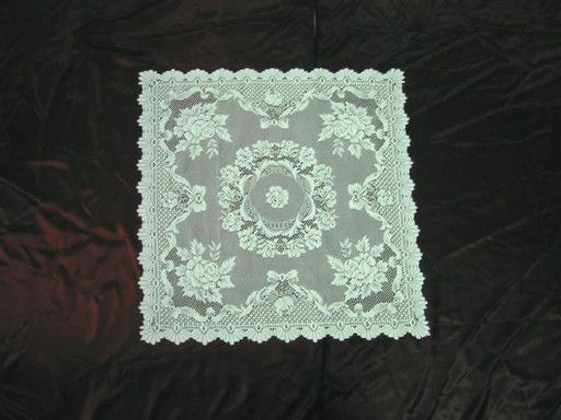Inexpensive Table Linens: Ecru Rose Square Tablecloth