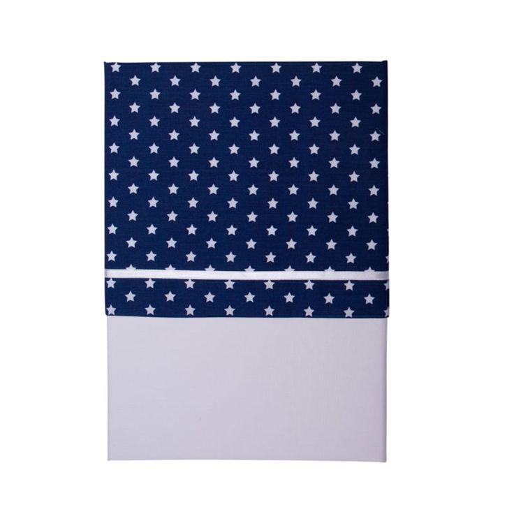 Linge de lit Drap de berceau Blue with white star Drap de berceau Blue with white star