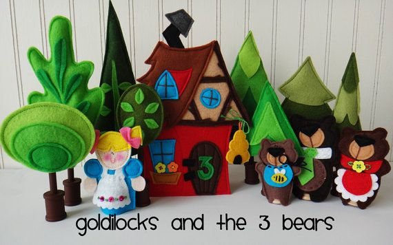 Felt FAIRY TALE TREES for Matchbox Cottage Sets pdf Pattern