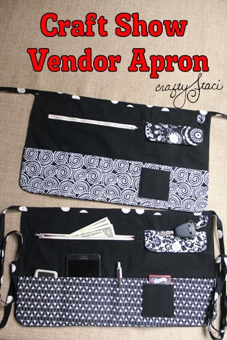 How to Make a Craft Show Vendor Apron - pattern + lots of pictures show each step. This apron has lots of pockets for all of the necessities you need when you're a vendor at a show - Crafty Staci